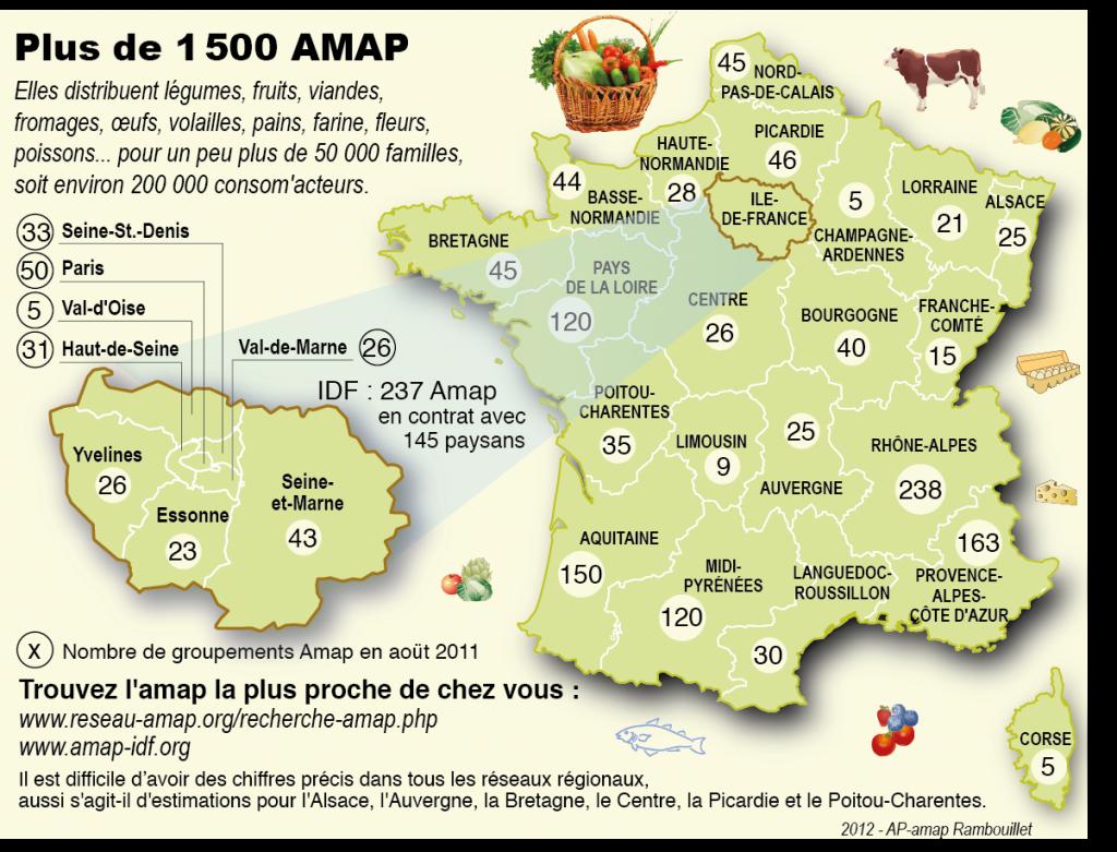 carte des AMAP